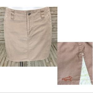Horny Toad Corduroy Skirt with Side Cotton Inset